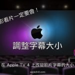 Apple TV 4 字幕大小